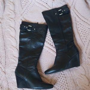 Nine West Black knee high Leather Boots